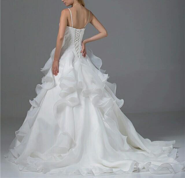 robe de mariée tissu organza blanche