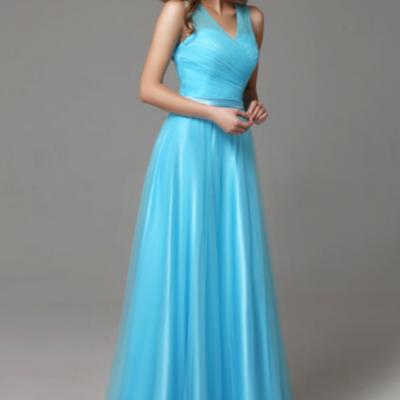 Robe de demoiselle d'honneur bleu