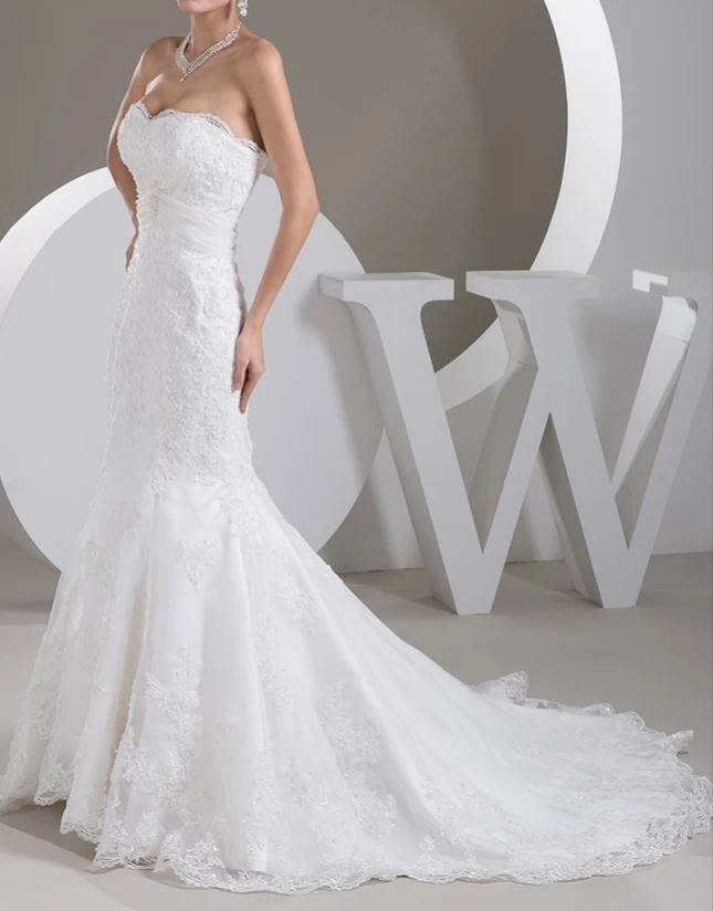 Robe de mariée sirène blanche