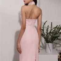 Robe de demoiselle d'honneur rose