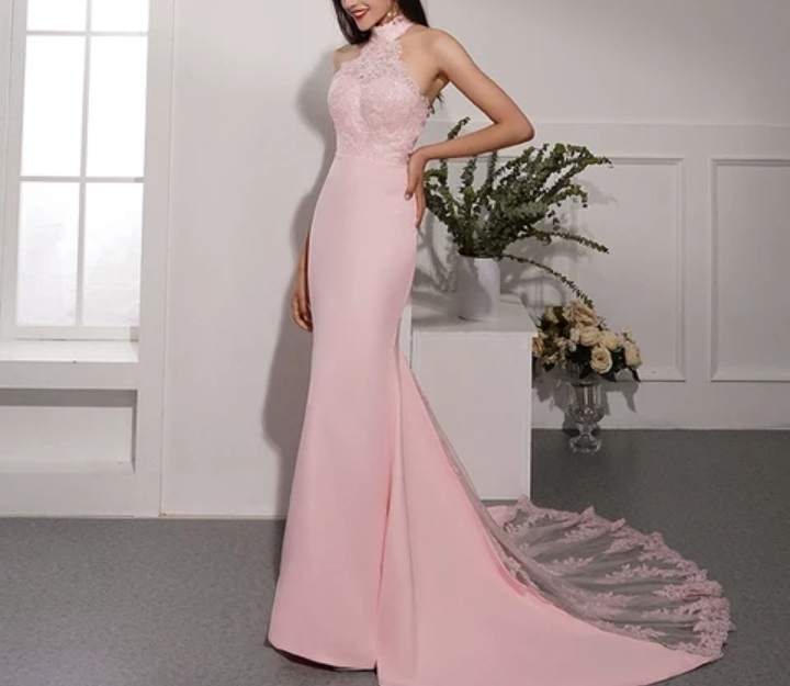 Robe pour mariage rose