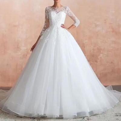 robe de mariée A-line à manches longues