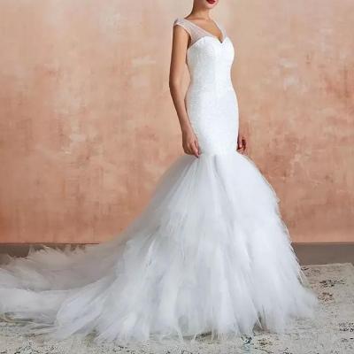 robe de mariée sirène plumetis