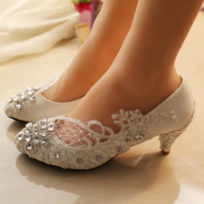 Livraison gratuite blanc chaussures de mariage chaussures de bureau de demoiselle d honneur chaussures de mari eacute