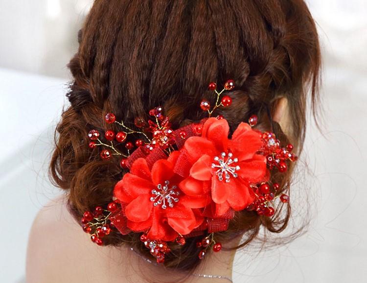 Ornements de cheveux de cheveux de mariage accessoires coiffe floral romantique dentelle hairwear fleur de mariage 1