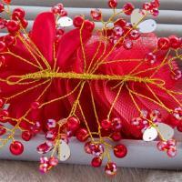 Ornements de cheveux de cheveux de mariage accessoires coiffe floral romantique dentelle hairwear fleur de mariage 2
