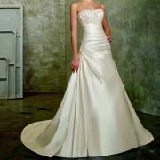Pas cher plus la taille robe de mariee 2016 perlee bretelles corsage une ligne satin robes