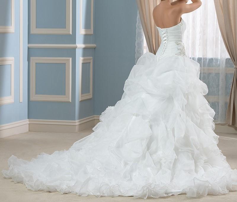 Real photo robe de bal robes de mari eacute