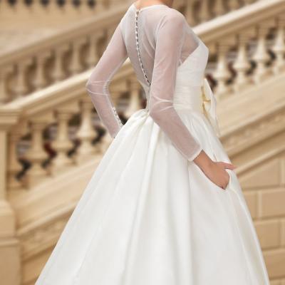Robe de mariée manches longues avec poches