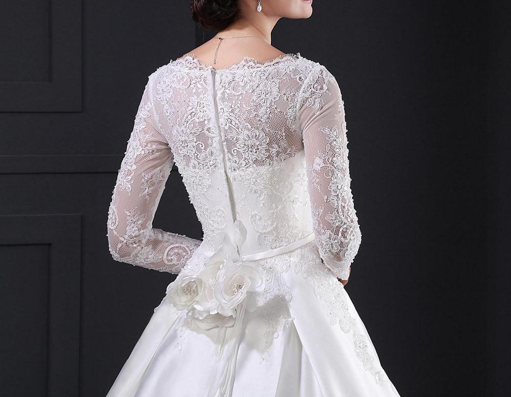 Sl028 blanc robe de noiva dentelle robe de mari eacute 1