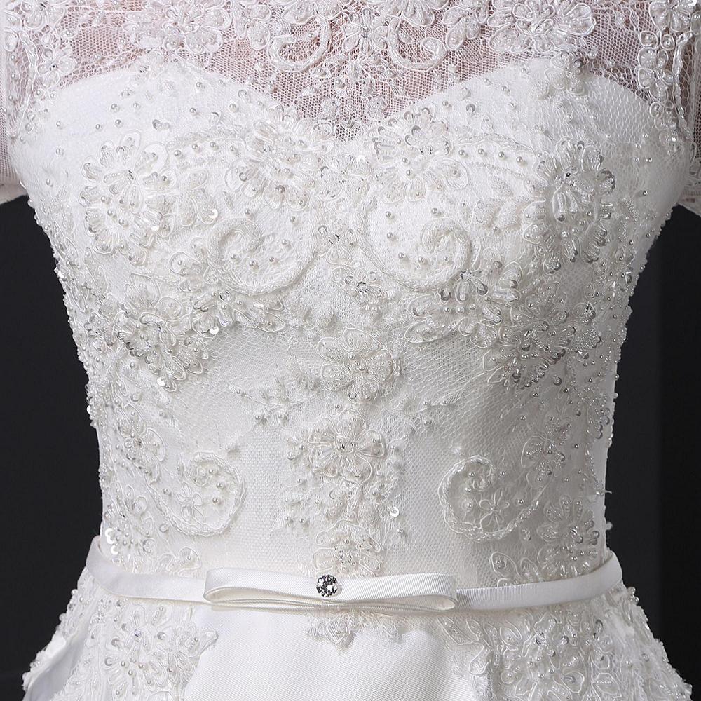 Sl028 blanc robe de noiva dentelle robe de mari eacute 2