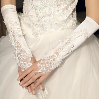 Gants mitaine pour mariée