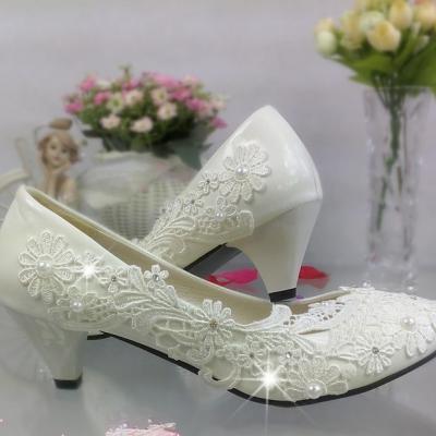 Chaussure de mariée dentelle