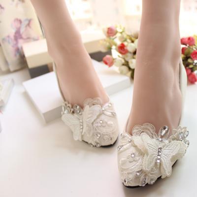 Chaussure de mariage papillon