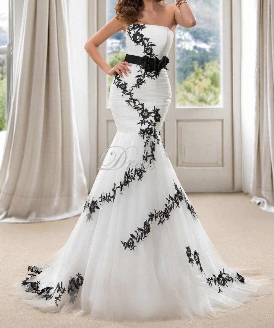 robe coupe sir ne pour mariage blanche et noir avec ruban. Black Bedroom Furniture Sets. Home Design Ideas