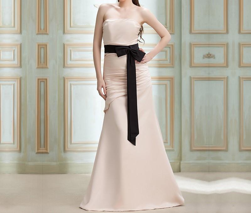 Vente chaude trompette demoiselle d honneur robe bretelles sash longue gaine robe demoiselle d honneur 10812926