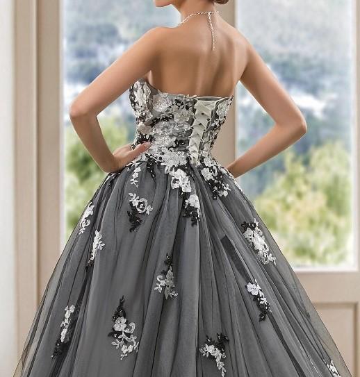 Vintage blackwedding robes robe de bal robes de mari eacute 1