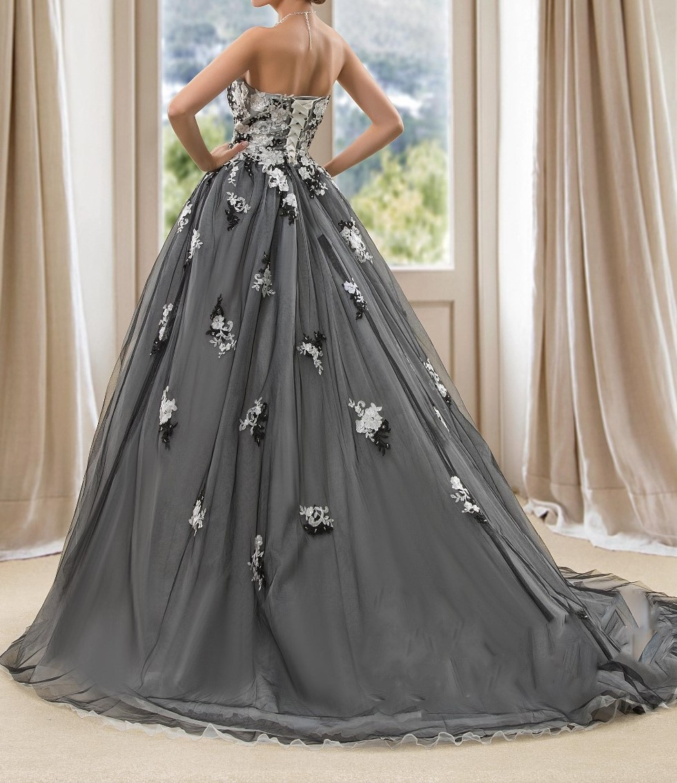 Vintage blackwedding robes robe de bal robes de mari eacute