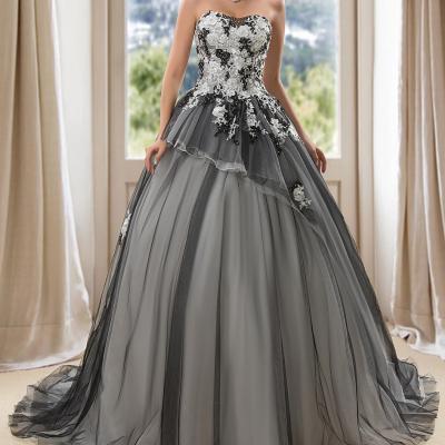 robe de bal noir et blanc