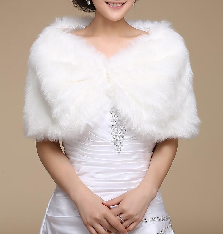 Wedding bolero outerwear wedding accessories urged wrap bride formal winter cape bride fur shawl wedding jackets