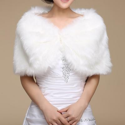 Wedding bolero outerwear wedding accessories urged wrap bride formal winter cape bride fur shawl wedding jackets